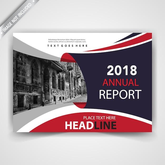illustration de brochure rouge horizontal créatif Vecteur gratuit