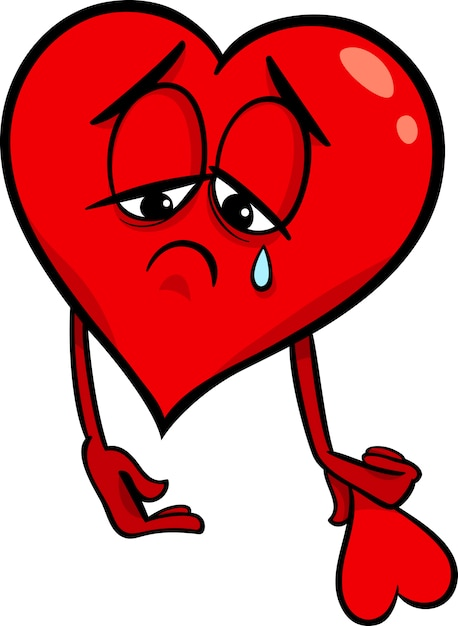 Illustration de dessin anim triste coeur bris - Dessin de coeur brise ...
