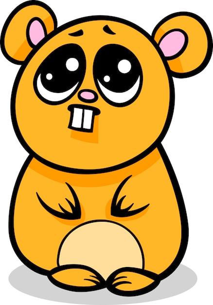 Illustration de kawaii hamster de dessin anim - Hamster dessin anime ...