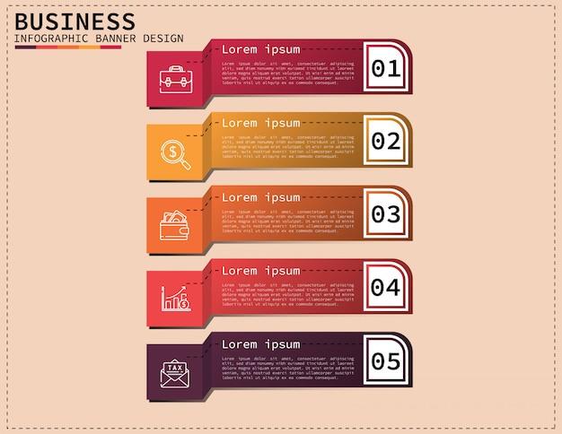 Illustration de design.vector 3d entreprise infographique Vecteur Premium