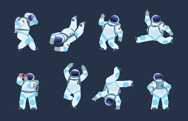 Illustration De Dessin Animé Astronaute Vecteur Premium
