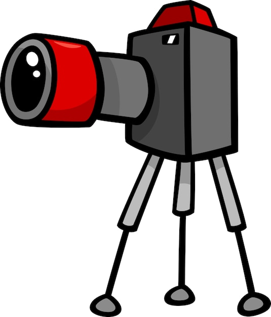 Illustration De Dessin Anime De Camera Clip Art Vecteur Premium