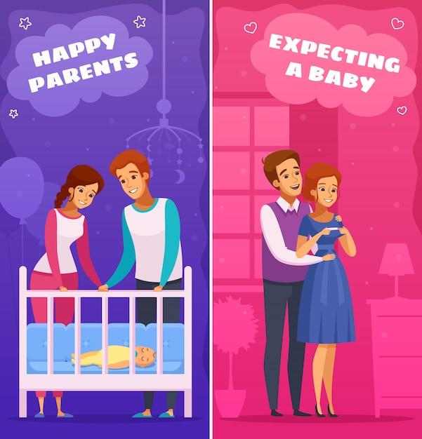 Illustration de dessin animé grossesse nouveau-né Vecteur gratuit