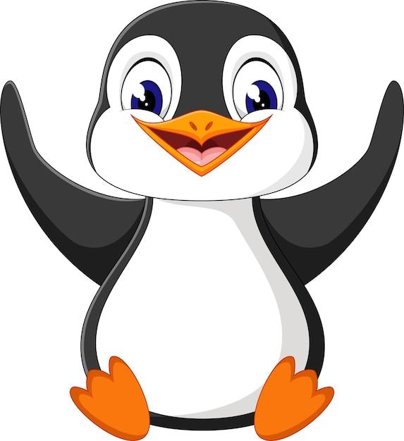 Illustration de dessin anim mignon pingouin t l charger des vecteurs premium - Dessin anime les pingouins ...