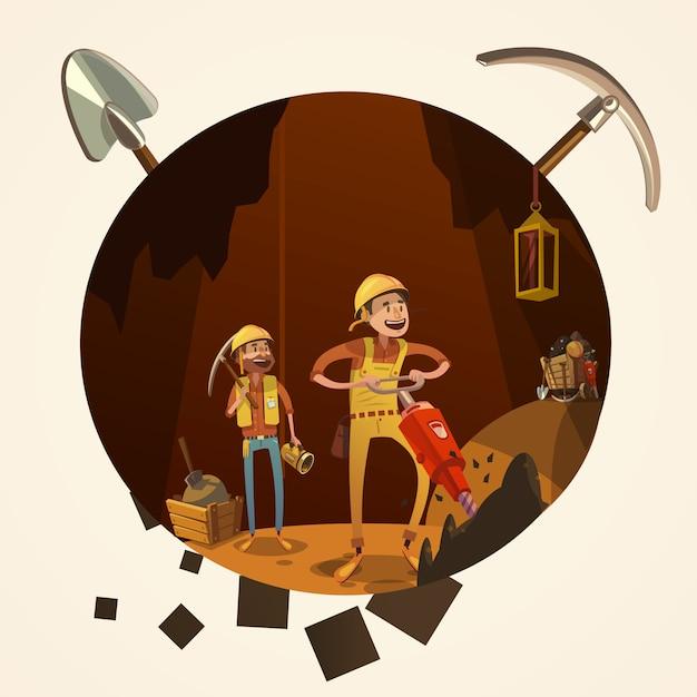 Illustration De Dessin Animé Minière Vecteur gratuit
