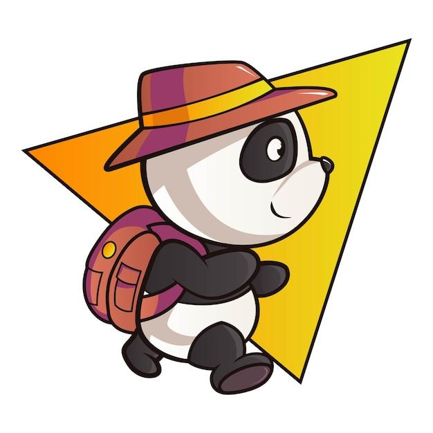 Illustration De Dessin Animé De Panda. Vecteur Premium