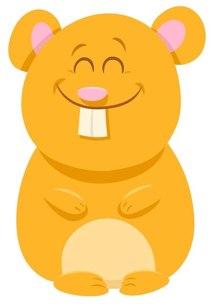 Illustration de dessin animé d'un personnage animal de hamster Vecteur Premium
