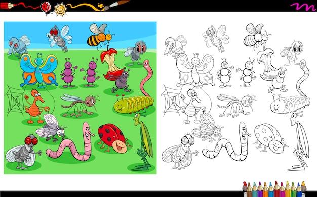 Illustration De Dessin Anime De Personnages A Colorier Livre