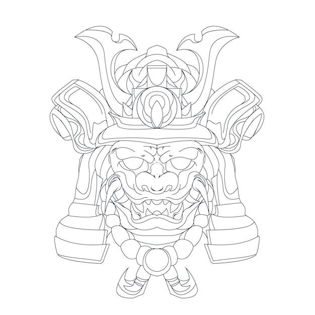 Illustration Dessinée à La Main De Samouraï Ronin Vecteur Premium