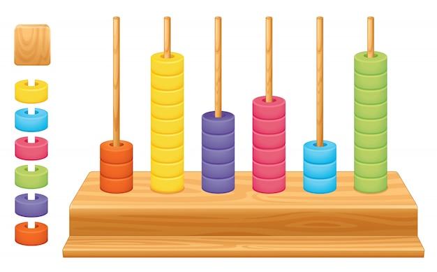 Illustration Détaillée D'une Valeur De Place Mathématique, Abacus Vecteur gratuit
