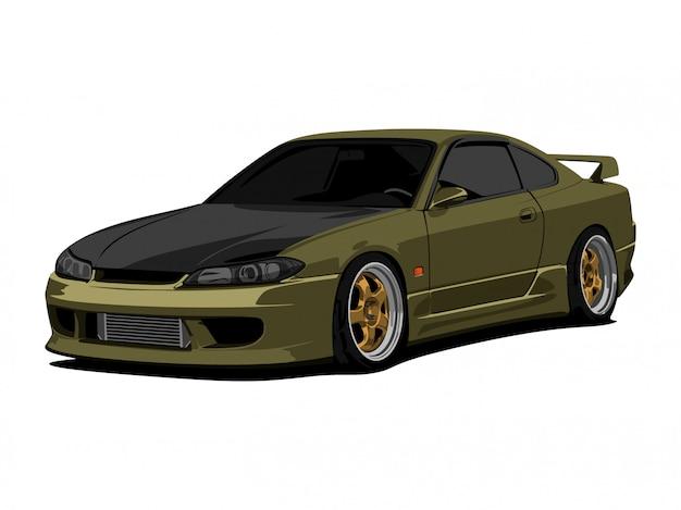 Illustration détaillée de voiture dessin animé vector illustration Vecteur Premium