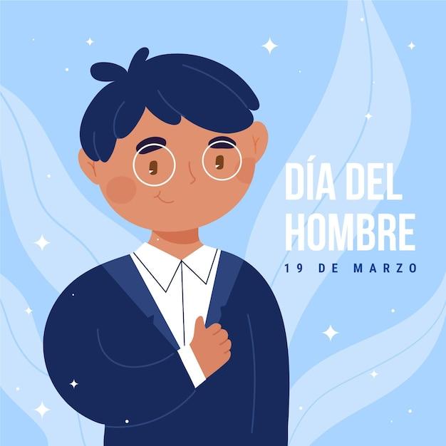 Illustration De Dia Del Hombre Dessinée à La Main Vecteur gratuit