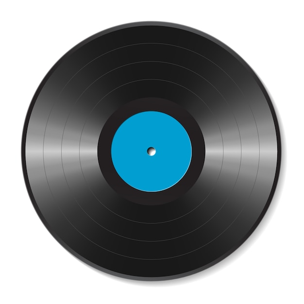 Illustration de disque vinyle vierge Vecteur Premium