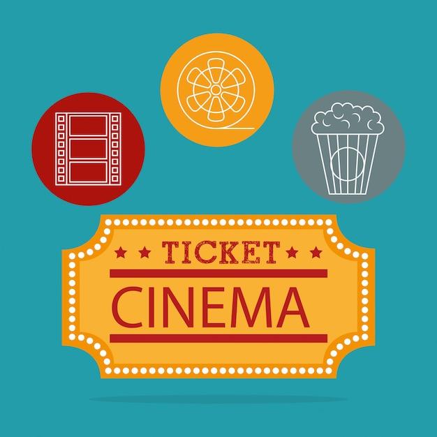 Illustration de divertissement de cinéma Vecteur gratuit