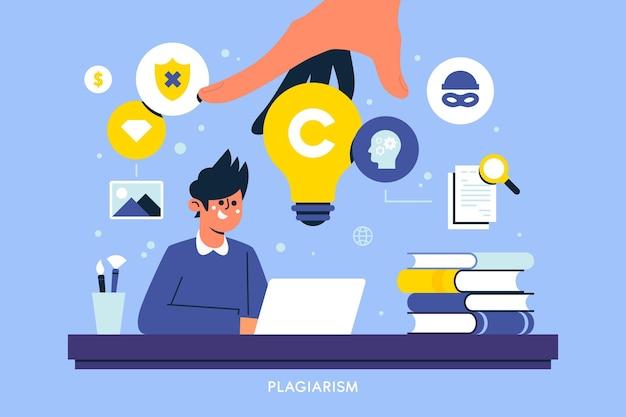 Illustration De Droits D'auteur De Plagiat Vecteur gratuit