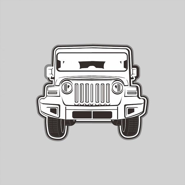 Illustration Du 4x4 Hors Route Vecteur Premium