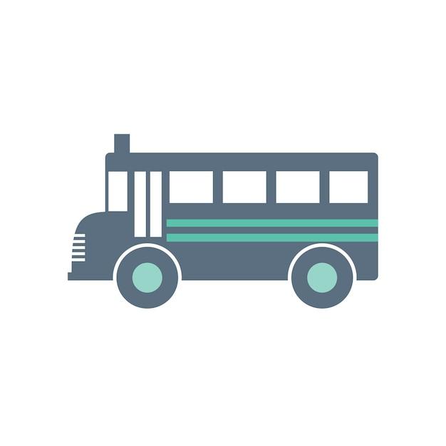 Illustration du bus scolaire Vecteur gratuit