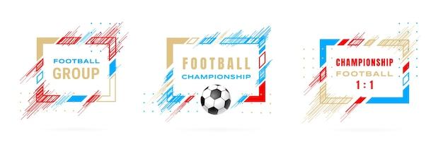 Illustration Du Championnat De Football Coupe De Football Vecteur Premium