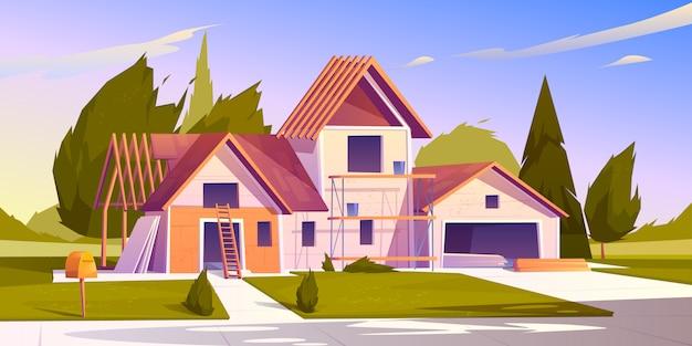 Illustration Du Chantier De Construction Vecteur gratuit