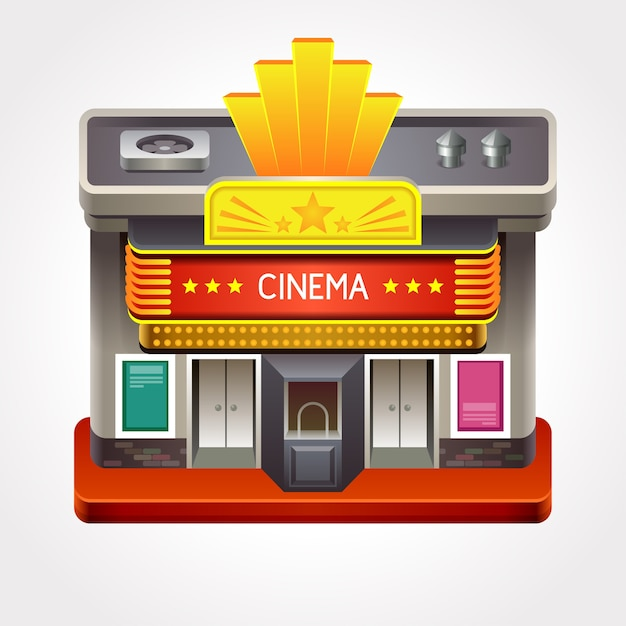 Illustration Du Cinéma Ou Du Cinéma. Vecteur Premium