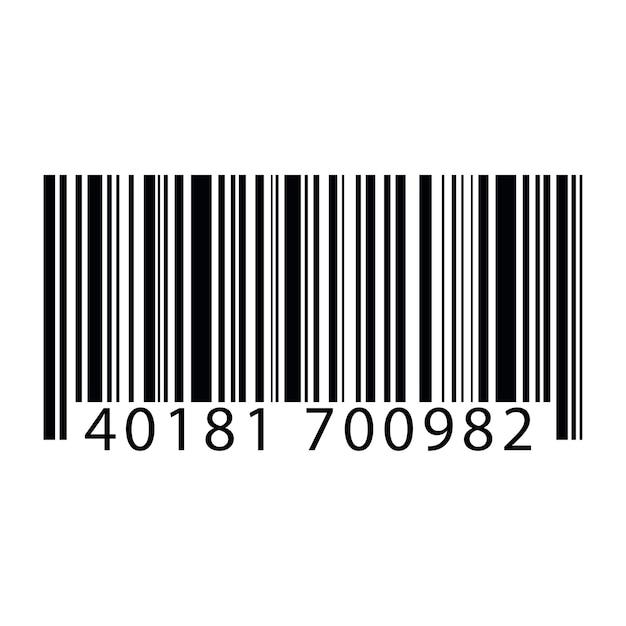 Illustration du code à barres Vecteur gratuit