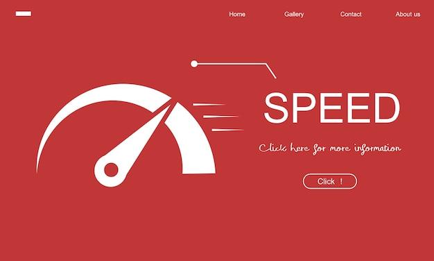 Illustration du compteur de vitesse Vecteur gratuit