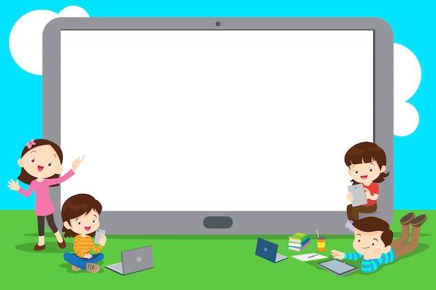 Illustration du concept d'apprentissage Vecteur Premium