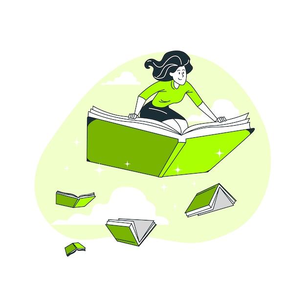 Illustration Du Concept Bibliophile Vecteur gratuit