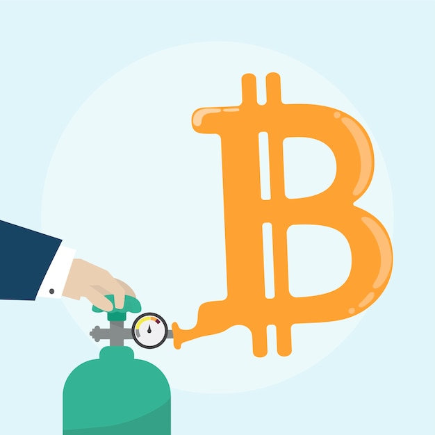 Illustration du concept bitcoin Vecteur gratuit