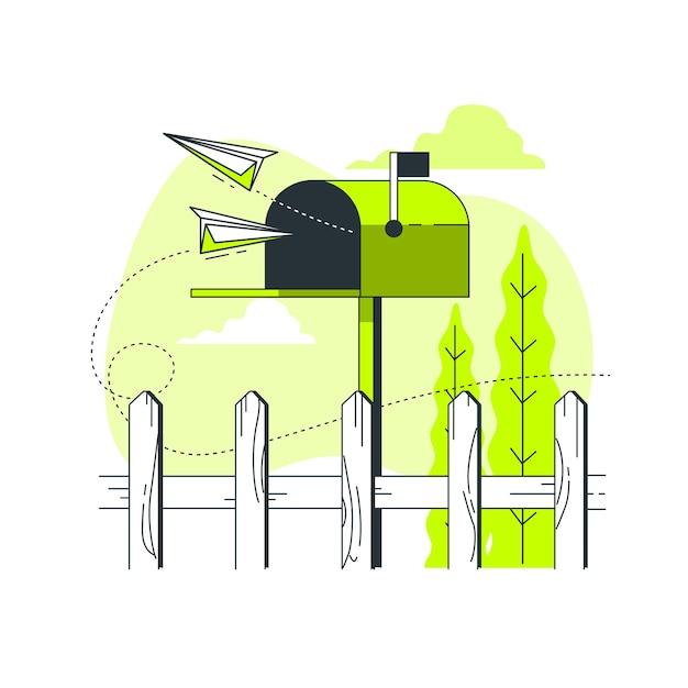 Illustration du concept de boîte aux lettres Vecteur gratuit