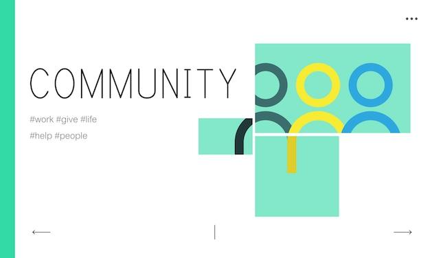 Illustration du concept de la communauté Vecteur gratuit
