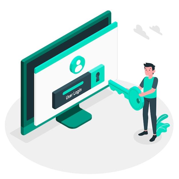 Illustration Du Concept De Connexion Vecteur gratuit