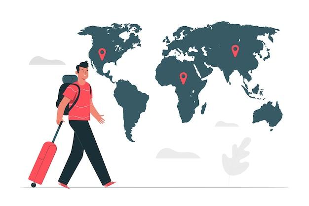 Illustration du concept de destination Vecteur gratuit