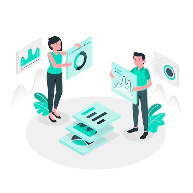 Illustration du concept de données Vecteur gratuit