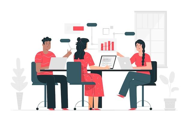 Illustration Du Concept D'équipe Vecteur gratuit