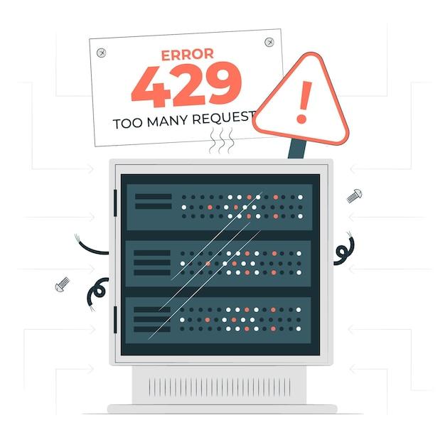Illustration Du Concept D'erreur 429 Vecteur gratuit