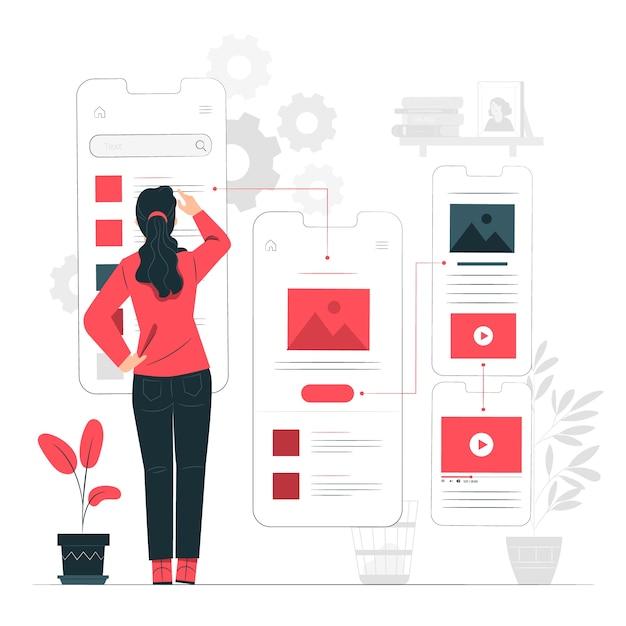 Illustration Du Concept De Flux Utilisateur Vecteur gratuit