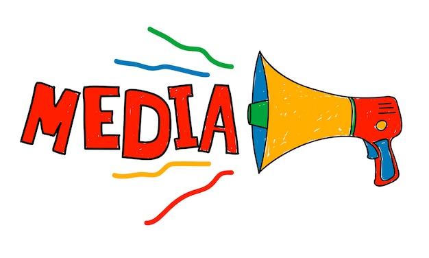 Illustration du concept de médias Vecteur gratuit