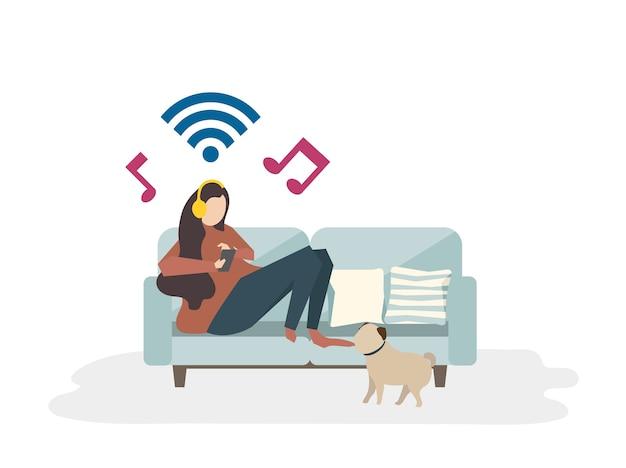 Illustration du concept de passe-temps avatar Vecteur gratuit