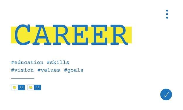 Illustration du concept de recrutement de carrière Vecteur gratuit