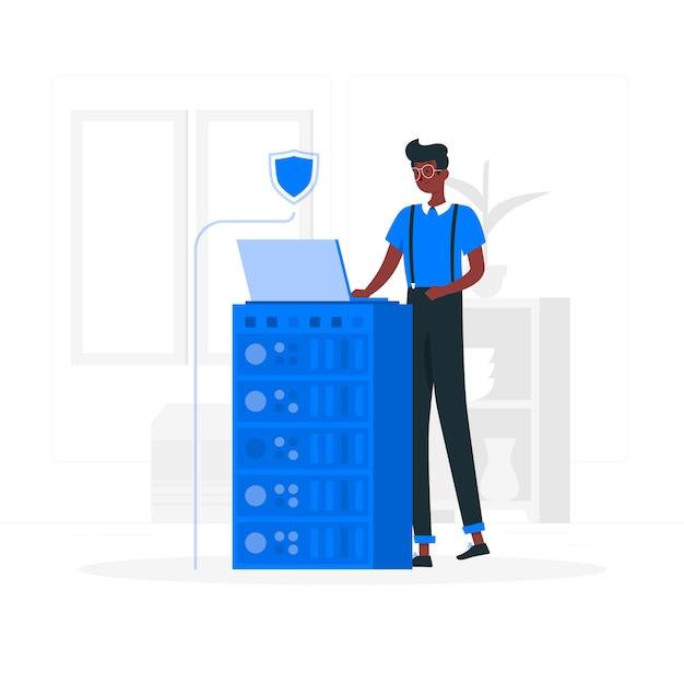 Illustration du concept de sécurité Vecteur gratuit