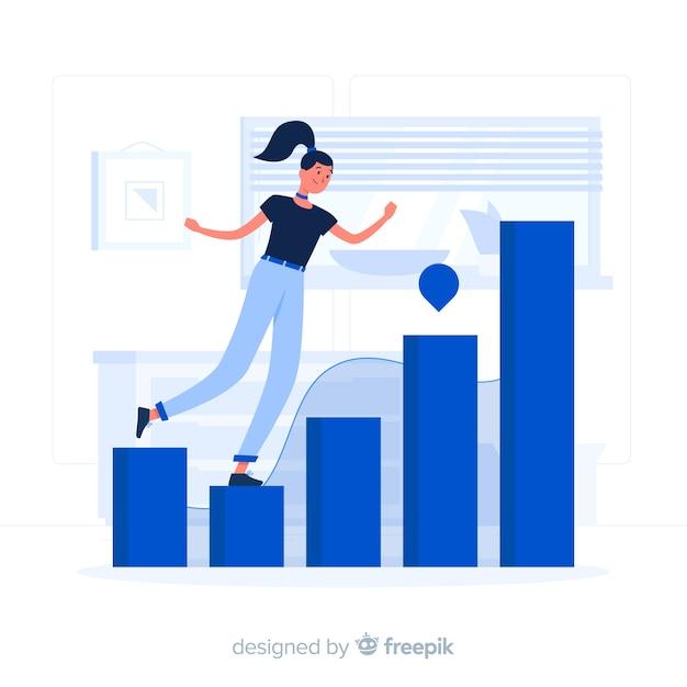 Illustration du concept de statistiques Vecteur gratuit
