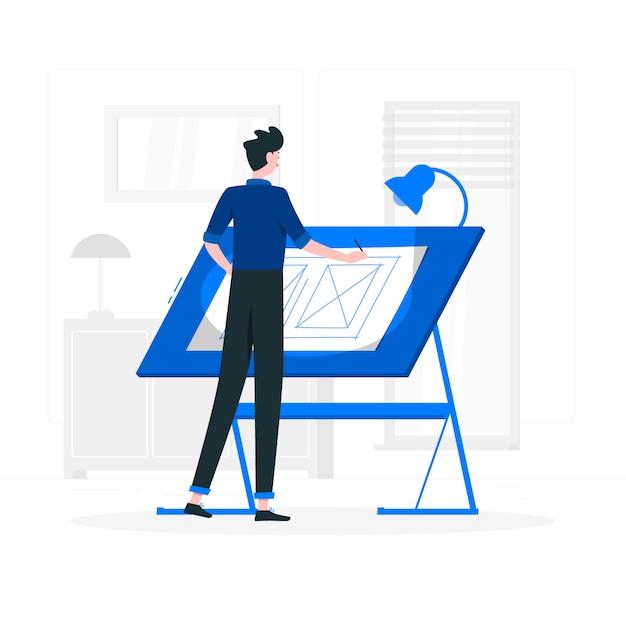 Illustration du concepteur Vecteur gratuit
