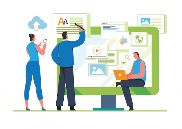 Illustration du contenu engageant Vecteur Premium