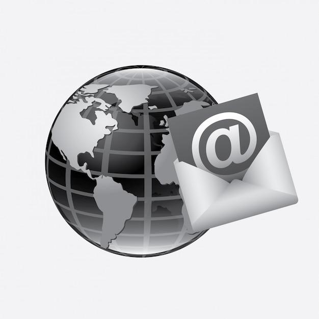 Illustration du courrier Vecteur gratuit