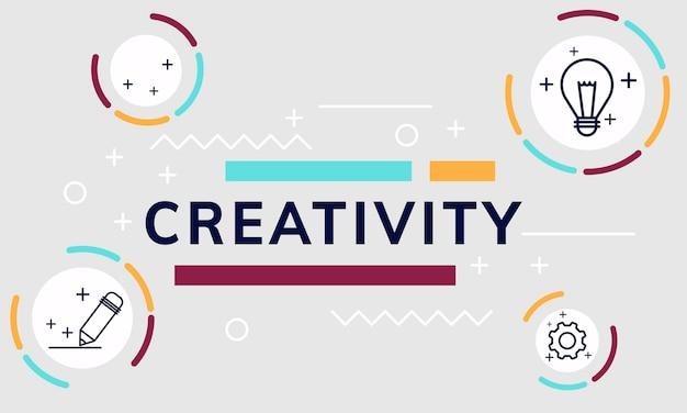Illustration du design graphique créatif Vecteur gratuit