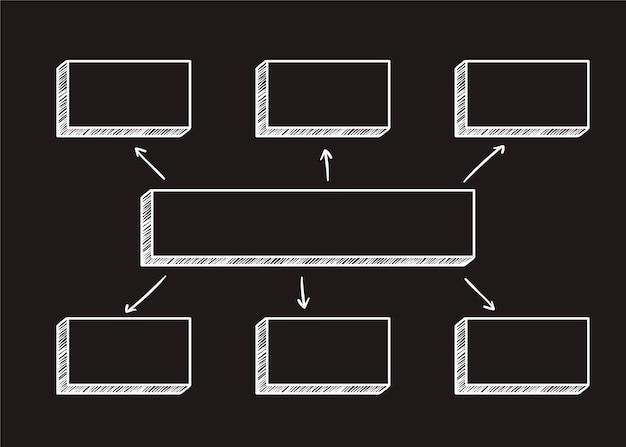 Illustration du diagramme carré Vecteur gratuit