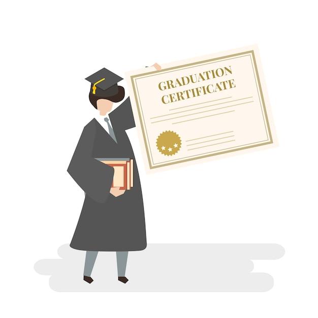 Illustration du diplôme Vecteur gratuit