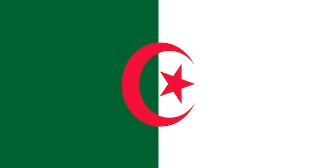 Illustration Du Drapeau Algérien Vecteur gratuit