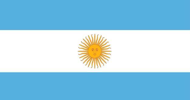 Illustration Du Drapeau Argentin Vecteur gratuit